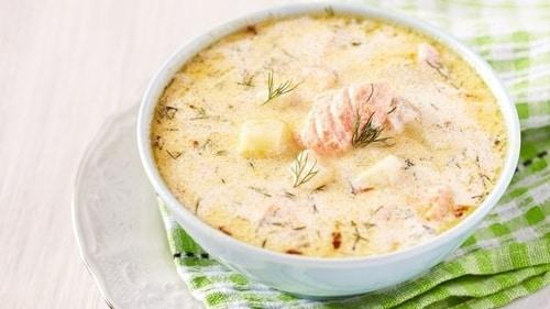 рыбно-сливочный кето суп рецепт
